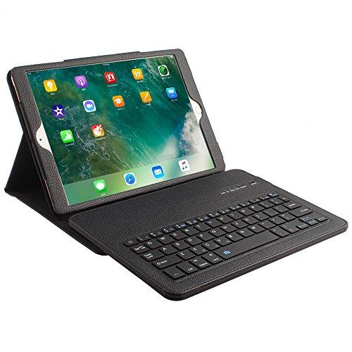 """iPad Pro 10.5"""" Wireless Bluetooth Tastatur mit Hülle, Olycism Ledertasche mit trennbarer Tastatur für iPad Pro 10.5"""" (schwarz)"""