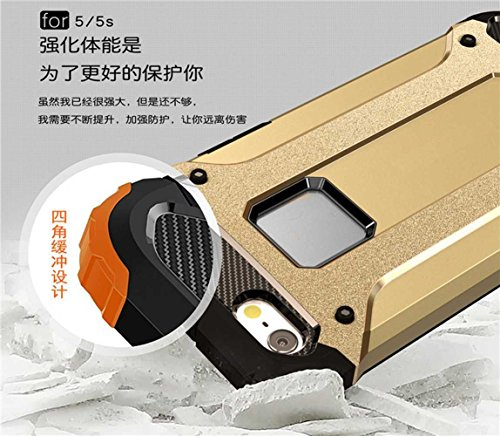 """iPhone 5S/5 Coque, AOFad Case Anti - poussière Protection des lourds 2-à-1 gris TPU Avec 10 Colors Diamond Accessoires Série Pour Femme Homme 4"""" I119 AOFad B300"""