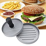 HTINAC Burgerpresse Hamburgerpresse mit Rutschfestem Komfortgriff, Aluminium Burger Maker Antihaftbeschichtung Ideal für BBQ, Campen, Picknicken Grill