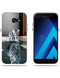"""Fundas Carcasas para Samsung Galaxy A5 2017/A520F, Gel de Silicona TPU Carcasas- FUBAODA- El Sueño del Pequeño Tigre, Carcasa Protectora de Goma de Calidad Superior para Samsung Galaxy A5 2017/A520F (5.2"""")"""