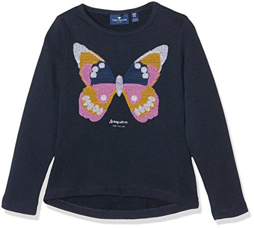 TOM TAILOR Kids Mädchen Sweatshirt Velvet Sequins, Blau (Agate Stone Blue 6519) 98 (Herstellergröße: 92/98) (Blue Mädchen Velvet)