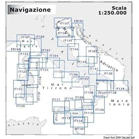 CARTA NAVIMAP IT128-IT129 70.251.15 SCALA 1:250.000 OSCULATI - Carta Nautica