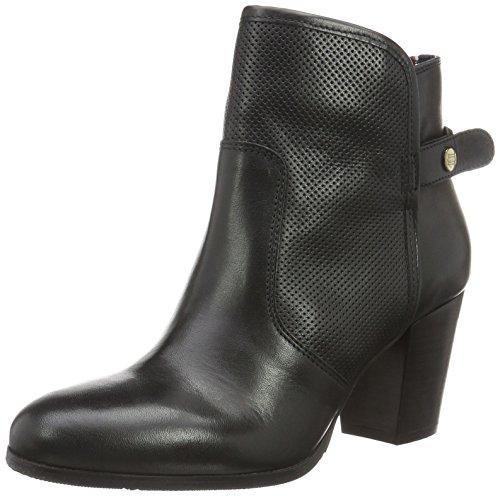 Tommy Hilfiger Damen C1285ATHY 6A Kurzschaft Stiefel, Schwarz (Black 990), 40 EU