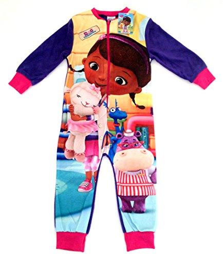 A/w 2015-doc mcstuffins pile tuta/tutina/all-in-one/pigiama-età 2/3, 4/5, 5/6, 7/ anni purple / multi 7/8 anni