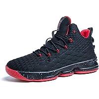 Scarpe Uomo da Pallacanestro Leggere Basket Sneakers Alte Sportive Esterno Grandi Calzature da Corsa Nero Rosso…