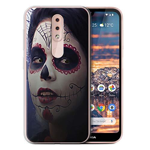 eSwish Gel TPU Hülle/Case für Nokia 4.2 2019 / Halloween Bilden Muster/Tag Der Toten Festival Kollektion (Der Toten Tag Halloween-2019)