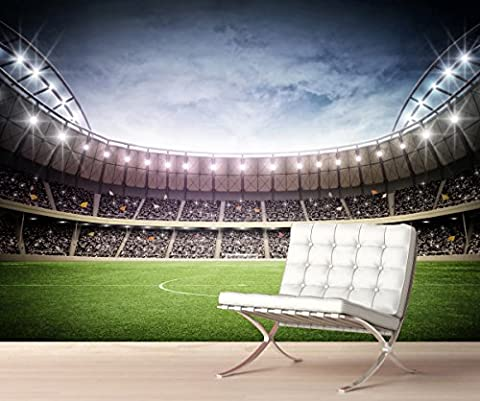 StickersWall Giant Football Stadium Children Kids Wall Mural Photo Wallpaper Picture Self Adhesive 1063 (342cm(W) x 242cm(H))