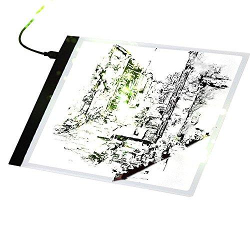 Auntwhale A4 LED Lichtkasten Tracing Board Kopieren Pads Panel Zeichnung Tblet Art Schablone (Quilten Tabelle)