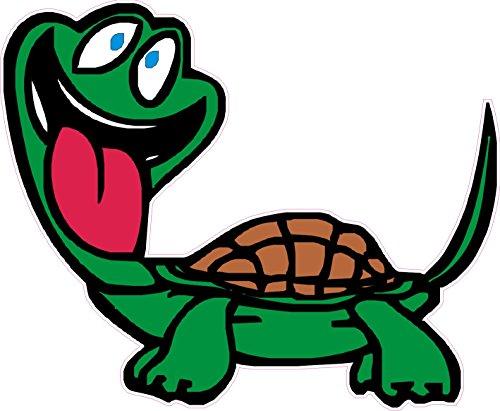 1 x Aufkleber Crazy Turtle Schildkröte Verrückt Funny Fun Gag Sticker Comic OEM