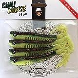 Monkey Lures Hairy Lui 14cm//Alle Farben//Zanderköder/Angelköder/Hechtköder Farbe Chilli Cheese