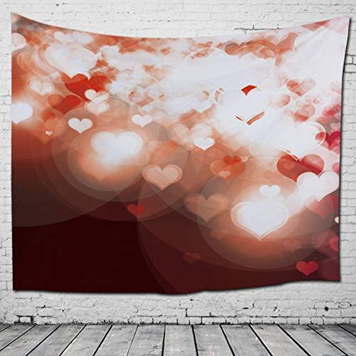 MIANJUNAN Tapestry Wall Hanging,Romantische Liebe Herz Drucken Wandteppiche,Couch Werfen Decke Strandtuch Groß Tischdecke Picknick Matte,Für Home Wand Dekor,200×150Cm -