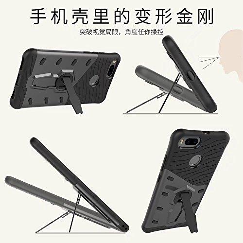 YHUISEN Hybrid Tough Rugged Dual Layer Rüstung Schild Schützende Shockproof mit 360 Grad Einstellung Kickstand Case Cover für Xiaomi Mi5X ( Color : Blue ) Gold