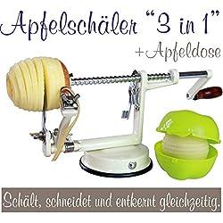 Made for us Éplucheur à pommes professionnelle en aluminium Blanc crème