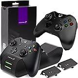 Fosmon Cargador Mando Xbox One, Doble Estación de Carga Cargador Rápida con 2...