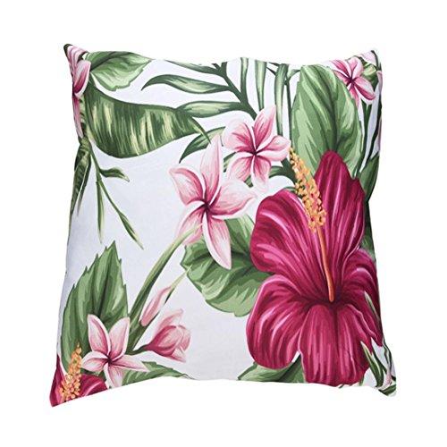 Pillow-top-matratze König-set (Botanik Blume Nordic Style Print Kissenbezüge Polyester Sofa Auto Kissenbezug Home Decor LCLrute (F))