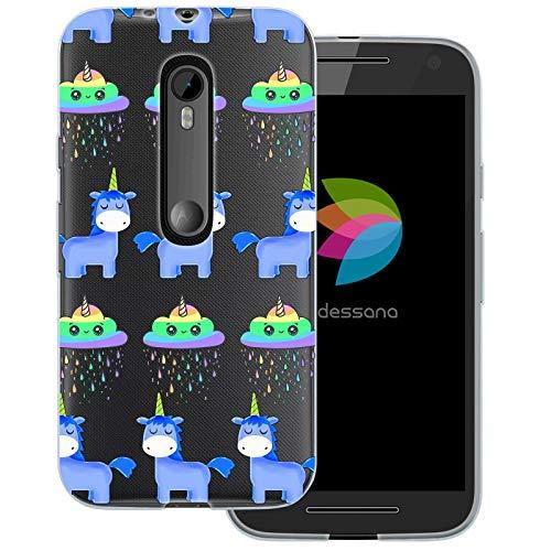 dessana Einhorn Unicorn transparente Schutzhülle Handy Case Cover Tasche für Motorola Moto G3 Einhorn Magic (Handy Cover Für G3)