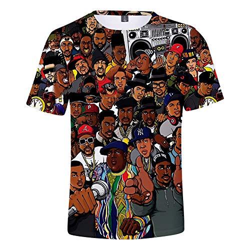 WMWZ Unisex-T-Shirts mit Rapper RIP Xxxtentacion Hip Hop-Shirt 3D-Bedruckte Top-T-Shirts,H,XXXXL