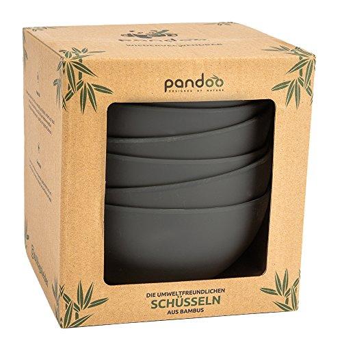 Pandoo bambú Cuencos Juego 6-sin BPA