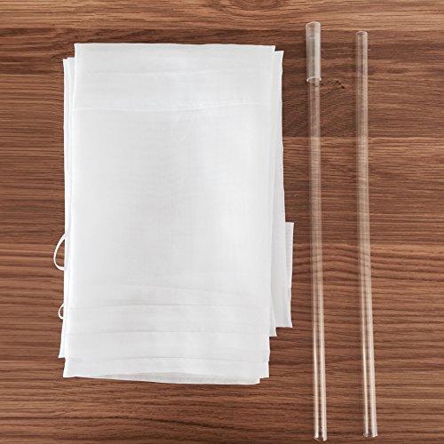 1er-Pack Raffrollo mit Schlaufen Gardinen Voile Transparent Vorhang (BxH 140x155cm, weiß) - 2