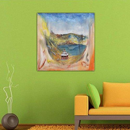 Indische Leinwand Kunst (999store Landschaft Abstrakte Kunst Leinwand handgefertigt Acryl Gemälde Indische Home Wanddekoration für Wohnzimmer)