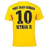PSG - T-Shirt Homme 'Neymar Jr' Officiel - Jaune (S)