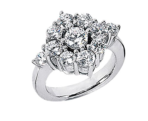 3,60CT. Diamant Hochzeit weiß gold Ring G - Ring Hochzeit Gold-weiss