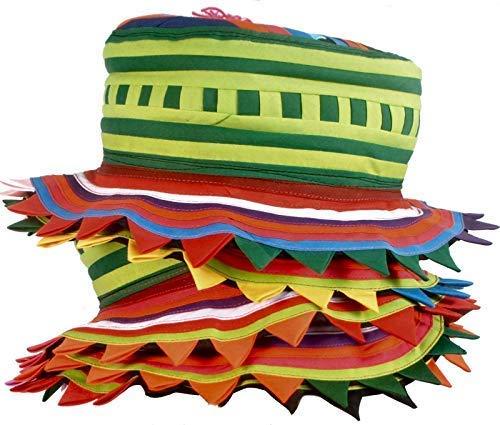 Tribal Thai Hmong Kopfbedeckung Hut handgemachte Jester Clown Festival Applique ()