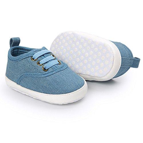 (SUCES Babyschuhe Baby Lauflernschuhe Mädchen Jungen Canvas Schuhe Rutschfest Weiche Sohle Sneaker Kleinkind Leinenschuhe Krippe Schuhe(0~12 Monate))