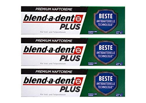 3x Blend a dent Plus Premium Haftcreme DUO SCHUTZ Minze 40g