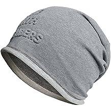 FLY HAWK Cappello Cuffia Cottone Uomo Donna Unisex Invernali - Berretto  Beanie Adulti Skull cap Elastico b8eb6c4489b5