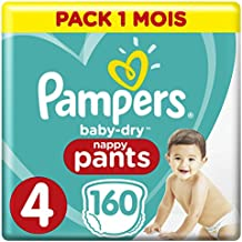 Pampers Baby-Dry pantalones, Talla 4 ((9-15 kg/8