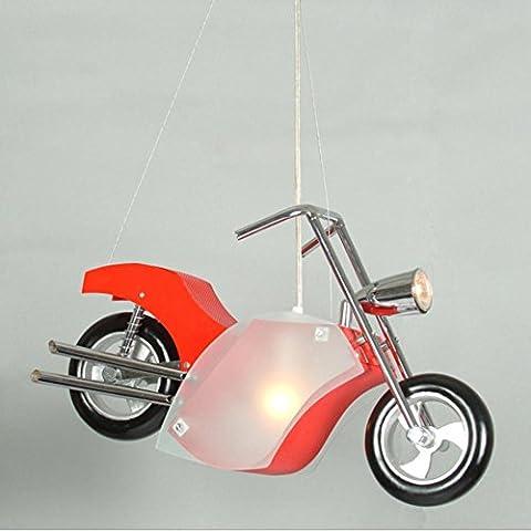 YHDEN Kreative Luxus Geschenk Kinderschlafzimmer garnieren stilvolle Kunst Cartoon Motorrad Kronleuchter size:610*120*210(mm)
