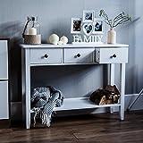 Vida Designs Windsor Ablagetisch mit DREI Schubläden, Weiß, Hölzern, Flur, Korridor, Wohnzimmer, Schlafzimmer, Bettzimmer, Schminken, Schminktisch, Schreibtisch, Möbelstück, Möbel
