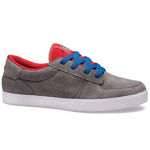 Osiris  Duffel,  Herren Skateboardschuhe , Grau - Grey/Red/Blue - Größe: 45 (Herren Osiris Duffel)