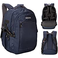 Cosmus Horizon DSLR Navy Blue Camera Backpack Bag with Laptop Compartment & Well Padded Adjustable grids for Lenses