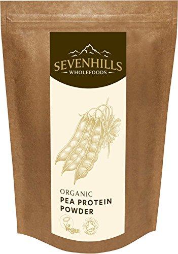Sevenhills Wholefoods Erbsen Protein Pulver Bio 1kg (Bio-protein-milch)