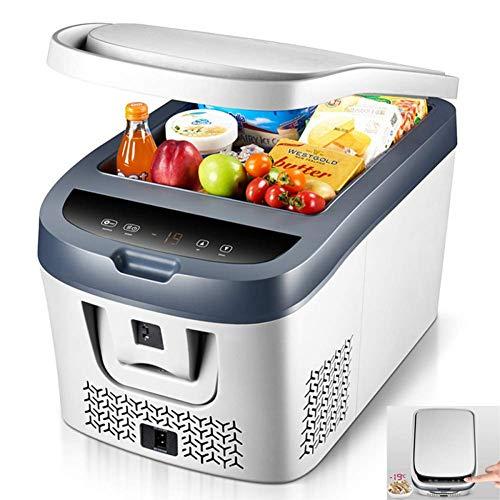 ADHW Tragbar Kompressor Elektrisch Kühlbox 28L/38L DC12V Kühlschrank Gefrierfach Hohe Intensität Kühlung,Kann auf -19 ° C abgekühlt Werden,für Auto, LKW, Steckdose (Color : White, Size : 38L) -
