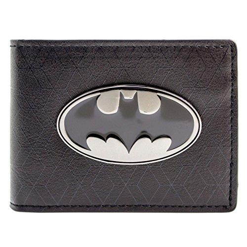 DC Comics Batman Bat Symbol Badge Noir Portefeuille
