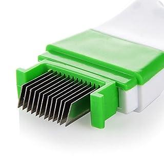 APMAX Zwiebelschneider Scallion Cutter Gemüse Schneidemaschine Edelstahl Shredder Manual Herb Cutter Küche Werkzeuge Gadget 12 Sharp Blades