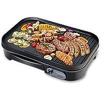 Aigostar Teplo 30CER - Plaque de cuisson et grill 2 en 1, anti-adhésive, 1800 W, thermostat réglable.