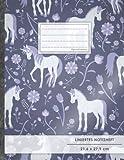 "Liniertes Notizbuch • A4-Format, 100+ Seiten, Soft Cover, Register, Mit Rand, ""Einhorn Trend"" • Original #GoodMemos Lined Notebook • Perfekt als Deutschheft, Schulheft, Übungsheft, Lineatur 27"