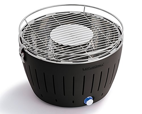 LotusGrill G-AN-34 – Barbecue a carbone senza fumo, Colore Nero - 2