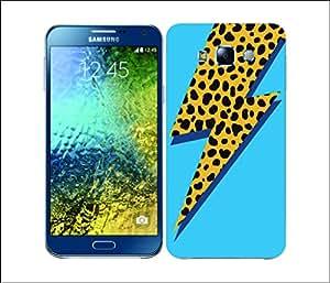 Galaxy Printed 2937 ThunderBolt Fashion Blue Hard Cover for Samsung A7