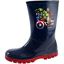 Botas Wellington para Niños, de Marvel Los Vengadores, Botas de agua, nieve, para niños, botas hasta mitad de la pantorrilla, talla 24-17