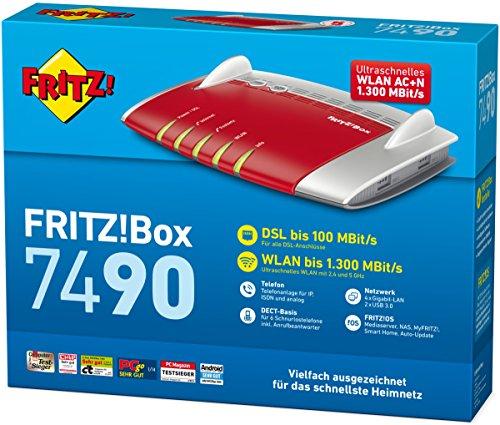 AVM FRITZ!Box 7490 WLAN AC + N Router - 4