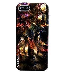 Omnam Wolf Dark Effect Printed Designer Back Cover Case For Apple iPhone 5/5s