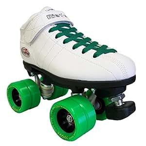 Roller derby quads RIEDELL R3 white grass - patins à roulettes - T. 42 - roues SONAR Demon 62 x 45mm 95A, roulements Kwik ABEC 5