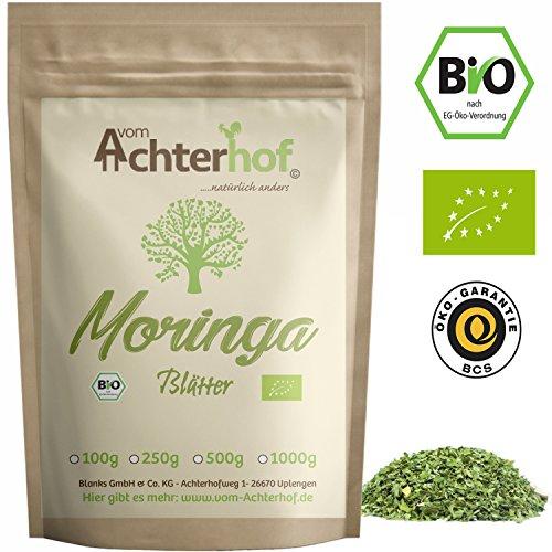 Moringa Oleifera Blätter Tee Bio (500g) vom Achterhof