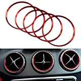 PolarLander 5 Pcs/Set Condition atmosphérique extérieure Air Vent Outlet Ring Cover Trim Décoration Rouge