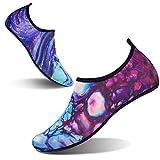 L-RUN Herren Damen Schuhe für Beach Aqua Surf Pool Lila Blau XXL (B: 9-9.5, M: 9-9.5)